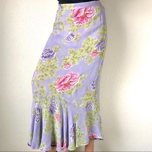 Vintage reversible maxi skirt purple floral s